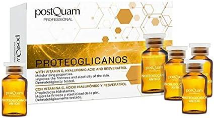 PostQuam - Ampollas Faciales | Ampollas Proteoglicanos, con Vitamina C, Ácido Hialurónico y Reveratrol - Hidratante y Reafirmante Facial - 10 ampollas