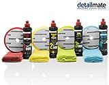 detailmate Auto Politur Set - Menzerna Autopolitur - Super Heavy Cut Compound HC1000 + Medium Cut 2500 + Final Finish FF3000 + Liquid Carnauba Wachs + 4 passende Menzerna Pads + 4...