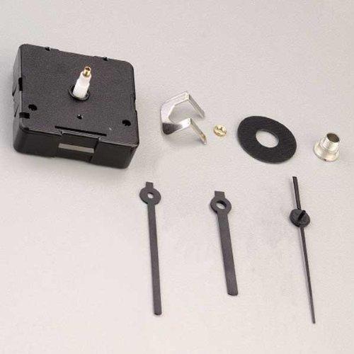 efco Quarzlaufwerk und Zeiger für Zifferblatt bis 5mm 1Stück/8Teile, schwarz