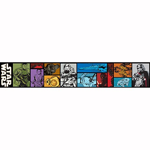 Star Wars Episode VII Selbstklebend Tapete Bordüre 5m