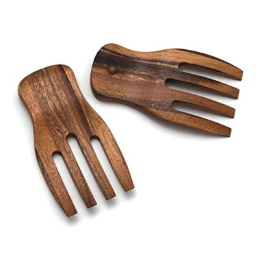 Lipper International 1102 Acacia Salad Hands, 3.75  x 7  x 1.88 , One Pair