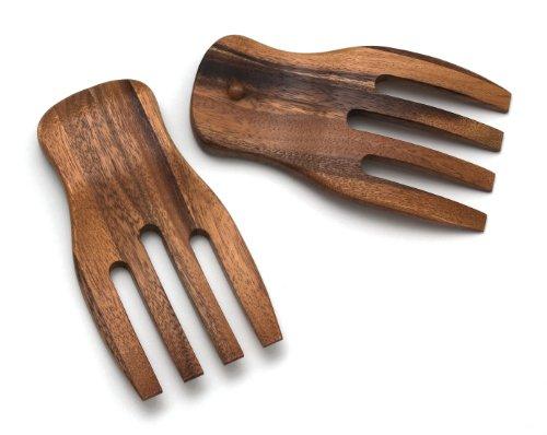 Lipper International Acacia Salad Hands, 3.75