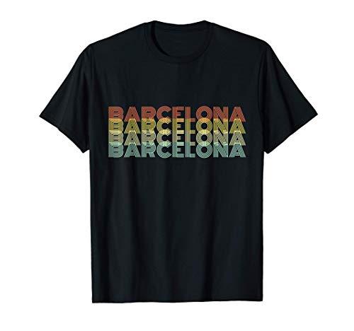Barcelona Retro Inicio Vintage Ciudad Natal Camiseta