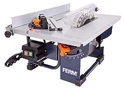 FERM Tischkreissäge 800 W – Inkl. Ø 200mm 24-Z-Sägeblatt, Gehrungsführung, Parallelführung, Schubstange und Staubsaugeranschluss