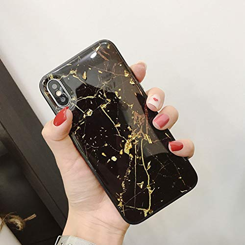 Phone Case for iPhone X XS Max XR Soft TPU Cover for iPhone 7 8 6 6s Plus Glitter Case,Black,for iPhone 8 Plus