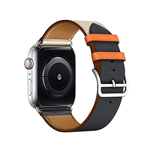 ZLRFCOK Correa de cuero para Apple Watch 6 Band 44mm 40mm iWatch banda 38mm 42mm deporte pulsera de silicona para Apple Watch 6 5 4 3 42 40 38 44mm