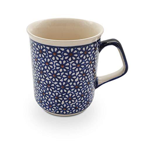 Original Bunzlauer Keramik Kaffeebecher mit eckigem Henkel 0.25 Liter im Dekor 120