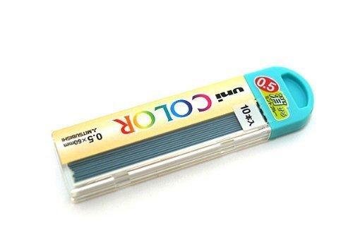Uni カラー シャープペンシル替芯 Lead–0.5mm–芯色 ソフトブルー 1 set