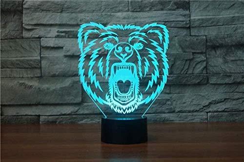 Baby Spielzeug 3D LED Lámpara Visual 16 Colores LED Dormitorio Librería 3D Noche Luz Decoración Hogar Regalo Creativo