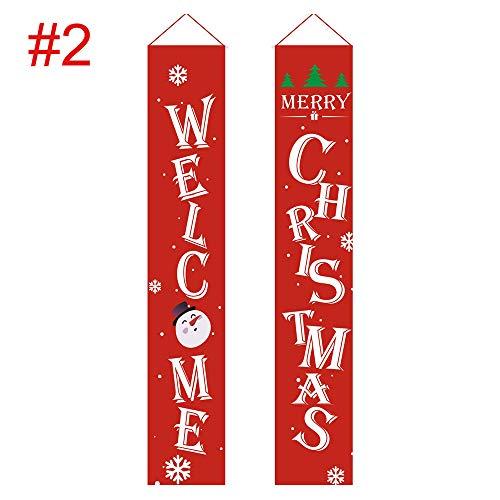 SZFREE Kerstdecoratie Banner Outdoor Vrolijk Kerstmis Hangend Gordijn Koppel Vlag Banner Voordeur Hanging Bunting Ornament
