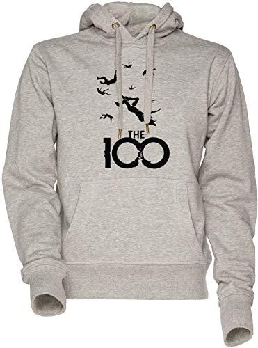 Vendax The 100 Unisexe Homme Femme Sweat À Capuche Sweat-Shirt Gris Men's Women's Hoodie Sweatshirt Grey