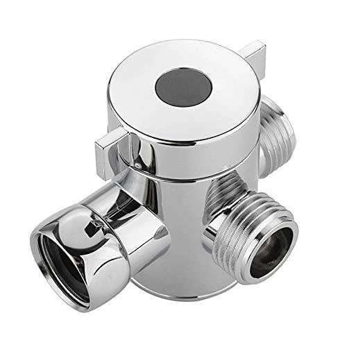 ZJHGQ Válvula de desviador de brazo de ducha multifunción 3 vías cabezal de ducha válvula de desviador G1/2 'interruptor adaptador válvula para inodoro bidé