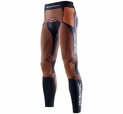 X Bionic Running The Trick Ow Long, Pantalone Uomo, Nero/Arancione, M