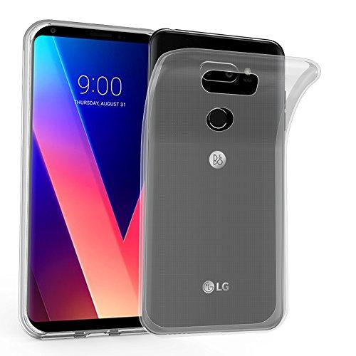 Cadorabo Hülle für LG V30 - Hülle in VOLL TRANSPARENT – Handyhülle aus TPU Silikon im Ultra Slim 'AIR' Design - Silikonhülle Schutzhülle Soft Back Cover Hülle Bumper