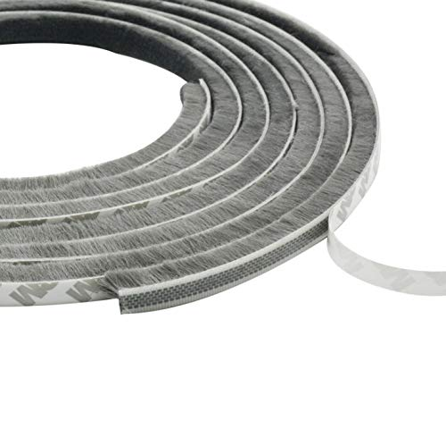リタプロショップR隙間テープ グレー すき間テープ すきまテープ 窓 ドア 冷暖房 防風 防音 防水 防虫 防塵 (幅9mm×毛足15mm)