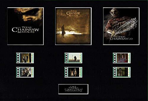 The Texas Chainsaw Massacre Trilogy Filmzelle, 25,4 x 20,3 cm, montiert (ungerahmt)