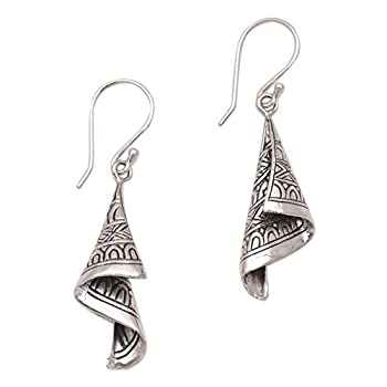 NOVICA .925 Sterling Silver Dangle Earrings  Shining Songket