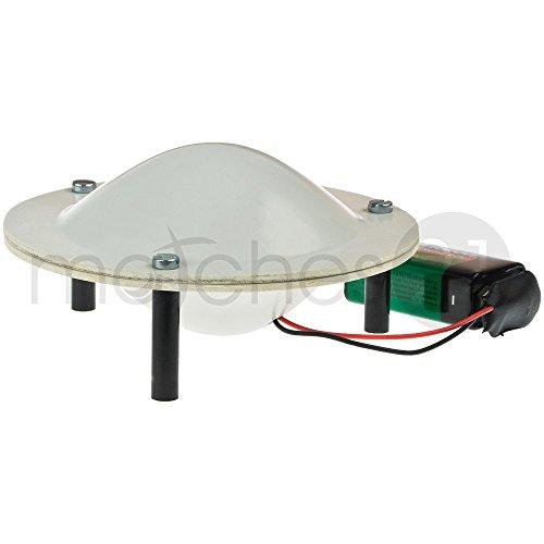 matches21 Theremin Musikinstrument UFO-Form 11x11x6 cm Bausatz f. Kinder Werkset Bastelset ab 12 Jahren