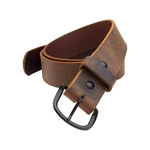 The Bootlegger Leather Belt | Made in USA | Full Grain Leather | Mens Belt