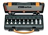 Beta 920TX/C9 - Chiavi a Bussola Maschio Viti Impronta Torx® Attacco Quadro Femmina 1/2' in Cassetta