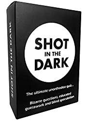A great game to play with friends or family. No boring quiz questions about capital cities or the Beatles first number one. Instead, Shot in the Dark is a fun party trivia game with hundreds of the most bizarre, interesting and hilarious questions to...