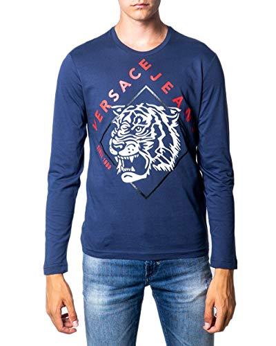 Versace Jeans Herren Langarmshirt blu M