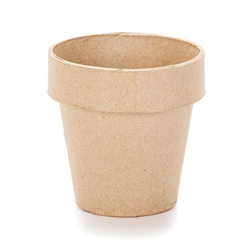 Darice Paper Mache Clay Pot 4 x 4 inches (12-Pack) 2839-04
