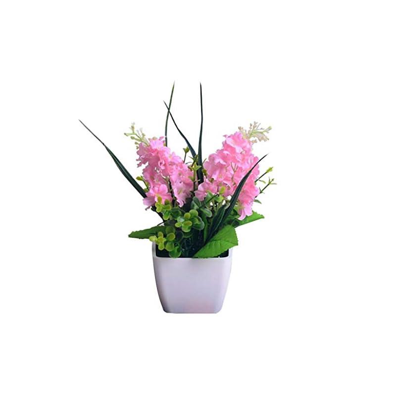 silk flower arrangements dserw artificial flowers, artificial hyacinth mini potted plants, garden office cafe wedding party desktop fake flower pot decoration