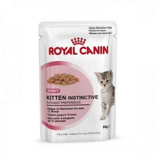 Royal Canin Frischebeutel Kitten Instinctive in Sosse Multipack 12x85g, Nassfutter, Katzenfutter