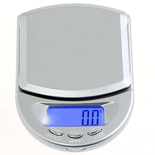 zhaita 500g/0.1g Mini Plataforma Electrónica Digital Pocket Scale Joyería Diamante Pesaje Básculas Pantalla LCD con Azul retroiluminado