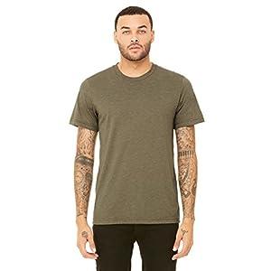 Bella + Canvas Mens 3.4 oz. Triblend T-Shirt (3413C) Olive Triblend m