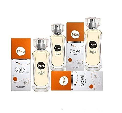 3 x MIRO Soleil Eau de Parfum Spray 50 ml (150 ml)