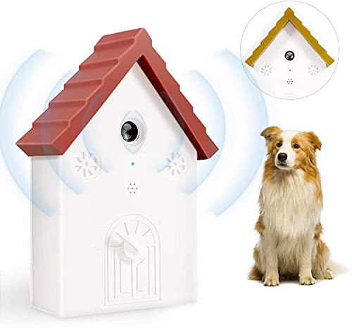 Anti Barking Device, Bark Deterrent with 3 Adjustable Ultrasonic Level Control, Effective Bark Control Device Safe for Pets Indoors and Outdoors , Two...