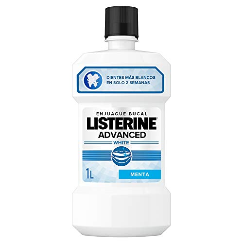 Listerine, Enjuague Bucal Blanqueador Avanced White, 1000 ml