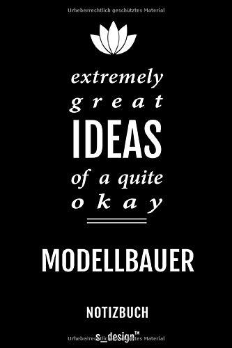 Notizbuch für Modellbauer: Originelle Geschenk-Idee [120 Seiten weisses blanko Papier]