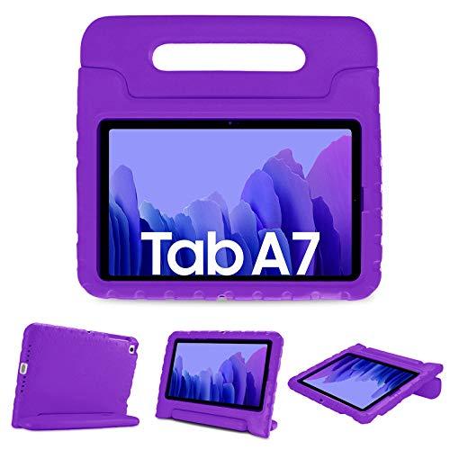 ProHülle Kinder Hülle mit Kickstand für Galaxy Tab A7 10.4 Zoll 2020 (Model:SM-T500/ T505/ T507, Ultra Leicht Stoßfest Robust Kind Schutzhülle Umwandelbar Griff Handle Standfunktion -Lila
