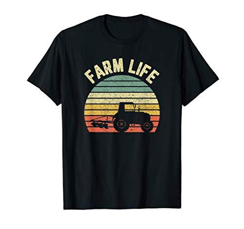 Farming Shirt Cool Vintage Farmer Retro Farm Life T-Shirt