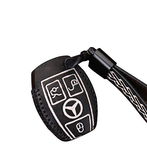 Schlüsselhülle aus Rindsleder, für Mercedes Benz A B C R S V Klasse CLA CLS GLA GLC GLE GLS SLC SL GLK GL SLK...