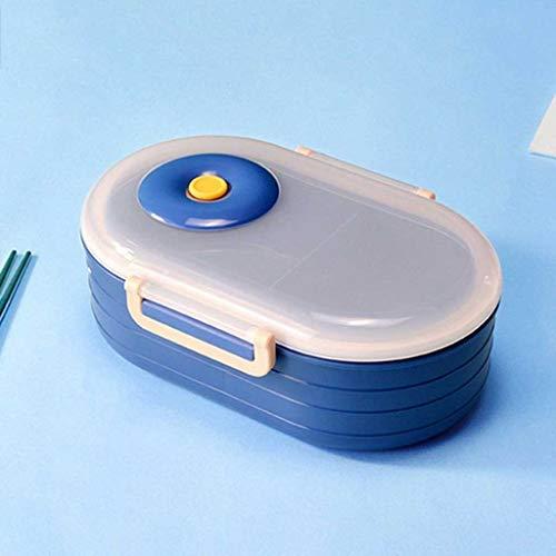 SKREOJF 1000ml Caja de plástico de plástico Dividido Formato de Almuerzo Anti-caída y Anti-escaldado Caja de Almuerzo Grande Capacidad de Almuerzo de Gran Capacidad (Color : B)
