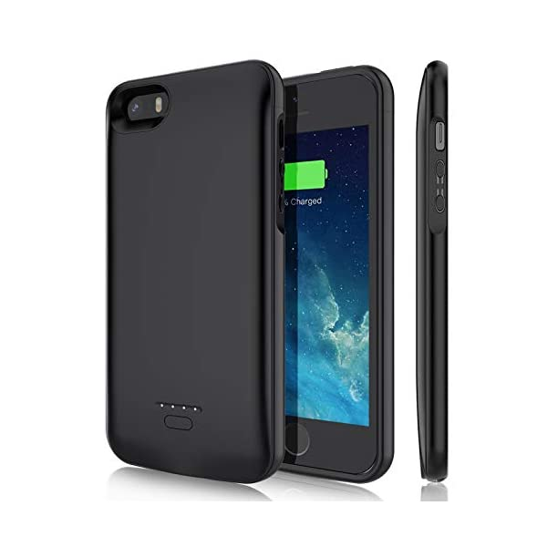 Battery Case For Iphone 55sse40 Inch Yishda 4000mah Rechargeable Extended Battery Charging Case Magnetic Charger Case Protective Backup Power Cover For Iphone 55sse Black Not Fit 5cse 2020
