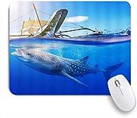 VAMIX マウスパッド 個性的 おしゃれ 柔軟 かわいい ゴム製裏面 ゲーミングマウスパッド PC ノートパソコン オフィス用 デスクマット 滑り止め 耐久性が良い おもしろいパターン (青い海に浮かぶ海の魚船)