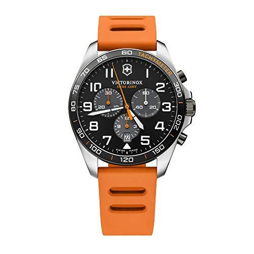 Victorinox Uomo FieldForce Sport Cronografo - Orologio al quarzo analogico in acciaio inossidbile fabbricato in Svizzera 241893
