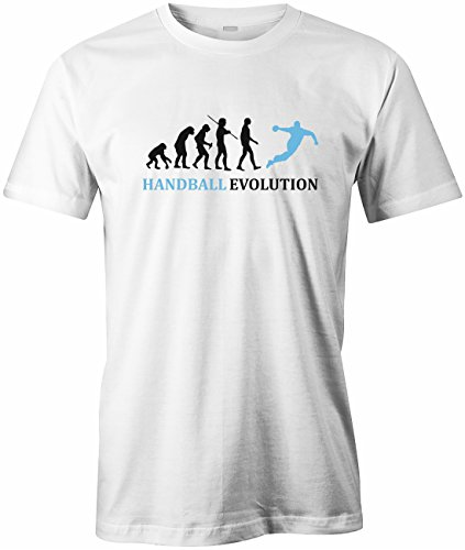 Jayess Handball Evolution - Sport - Handballer - Herren T-Shirt in Weiss by Gr. XXXL