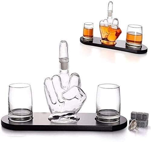 HLR Vasos de Whisky Jarra de Whisky Béisbol Whisky Decanter, espíritus de la Jarra y 4 Vasos de Whisky de béisbol, for Scotch, Coincidencia Bourbon o Vino