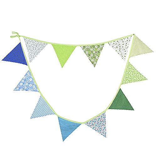 G2PLUS 3.3M bandierina Banner bandierina triangolari Ghirlanda Banner di gagliardetto bandierine triangolari bandierine Colorate Bandiere Decorative da Festa per Feste di Compleanno