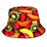 Unisex Bucket Hat, Moisture Wicking Fabric, UV Sun Protection - Fresh Fruits and Vegetables