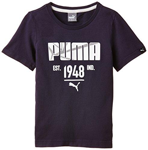 PUMA ATHL–Camiseta para niño, T-Shirt Style Athletic tee, Azul (Azul Marino), 16...