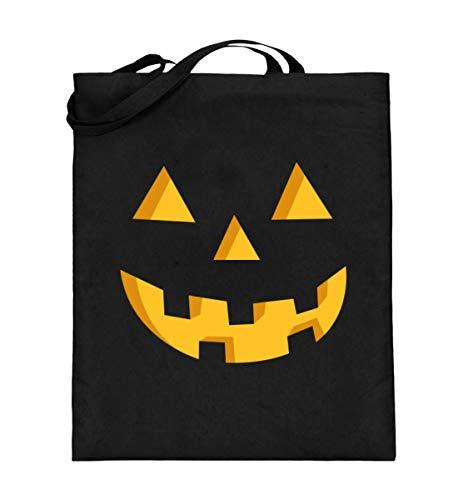 Bolsa de yute con cara de calabaza, regalo para fans de Halloween, bolsa de algodn, color Negro, talla 38cm-42cm