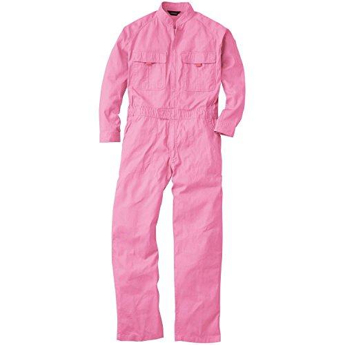 SOWA(ソーワ) 作業服 メンズ 長袖 つなぎ ピンク Sサイズ 9000 【綿100% オールシーズン レディースサイズ対応】