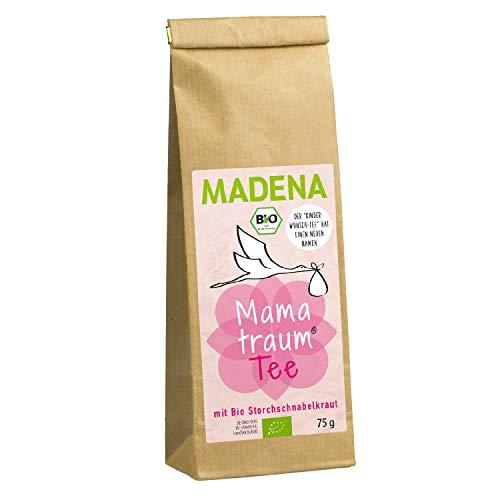 MADENA Bio Mamatraum Tee für Frauen (ehem. MADENA Kinderwunschtee) I Schwangerschaft I Unterstützender Kräutertee mit u.a. Bio Storchschnabelkraut und Bio Frauenmantelkraut